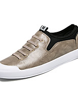 cheap -Men's Shoes Synthetic Microfiber PU Spring / Summer Comfort Sneakers White / Black / Almond