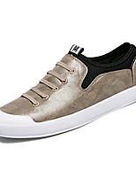 Недорогие -Муж. обувь Искусственное волокно Весна / Лето Удобная обувь Кеды Белый / Черный / Миндальный