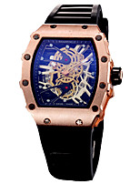 cheap -Men's Quartz Military Watch Japanese Chronograph / Hollow Engraving / Large Dial / Punk / Cool Word / Phrase Silicone Band Luxury /