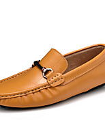 cheap -Men's Shoes Nappa Leather Spring Fall Comfort Loafers & Slip-Ons for Casual Office & Career Black Brown Blue