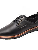 Недорогие -Муж. обувь Искусственное волокно Весна / Осень Удобная обувь / Формальная обувь Кеды Черный / Коричневый