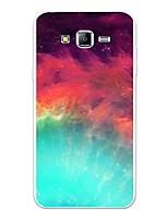 Недорогие -Кейс для Назначение SSamsung Galaxy J7 (2017) / J7 (2016) / J7 С узором Кейс на заднюю панель Пейзаж / Мультипликация / Градиент цвета Мягкий ТПУ