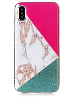 economico -Custodia Per Apple iPhone X iPhone 8 Ultra sottile Per retro Effetto marmo Morbido TPU per iPhone X iPhone 8 Plus iPhone 8 iPhone 7 Plus
