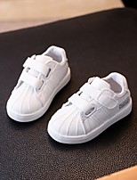 cheap -Girls' Boys' Shoes PU Spring Fall Comfort Sneakers for Casual White Black Pink