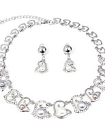 cheap -Women's Imitation Pearl Silver Plated Floral Jewelry Set 1 Necklace Earrings - Floral Fashion Silver Jewelry Set Bridal Jewelry Sets For