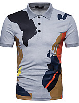cheap -Men's Business Street chic Polo - Color Block Camouflage Patchwork