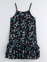 cheap -Girl's Daily Floral Dress Summer Cute Basic Black