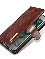 preiswerte -Hülle Für Apple iPhone X iPhone 8 Kreditkartenfächer Flipbare Hülle Magnetisch Ganzkörper-Gehäuse Solide Hart Echtleder für iPhone X