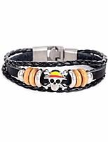 cheap -Men's Cool Skull Bracelet - Black Bracelet For Daily Club