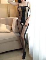 cheap -Women's Suits Nightwear - Mesh Split, Solid Colored Striped