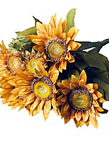 cheap -Artificial Flowers 1 Branch Pastoral Style Sunflowers Tabletop Flower