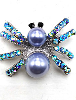 cheap -Women's Spiders Brooches - Metallic Silver / Black Brooch For Party