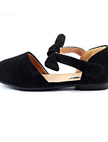 cheap -Girls' Shoes Leatherette Spring Flower Girl Shoes Comfort Flats for Casual Black Beige Pink