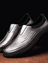 cheap -Men's Shoes Cowhide Fall Comfort Loafers & Slip-Ons for Casual Black Gray