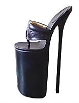 abordables -Femme Chaussures Polyuréthane Eté Escarpin Basique Chaussures à Talons Talon Aiguille Bout ouvert Blanc / Noir / Rose