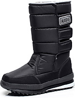 cheap -Women's Shoes Spandex Fabric Spring Fall Winter Fashion Boots Snow Boots Boots Flat Heel Mid-Calf Boots for Casual Outdoor Black