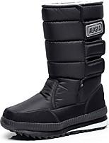 preiswerte -Damen Schuhe Spandex Frühling Herbst Winter Modische Stiefel Schneestiefel Stiefel Flacher Absatz Mittelhohe Stiefel für Draussen Schwarz