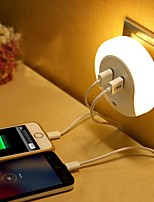 cheap -LED Night Light Warm White Smart Dual USB Phone Charger Light Control 110-120V 220-240V