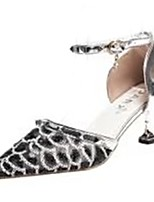 cheap -Women's Shoes Rubber Spring / Fall Comfort Heels Low Heel Gold / Black / Silver
