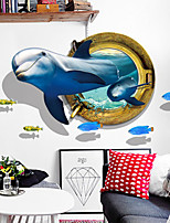 cheap -Decorative Wall Stickers - Animal Wall Stickers Animals 3D Living Room Bedroom Bathroom Kitchen Dining Room Study Room / Office