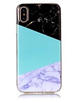 baratos -Capinha Para Apple iPhone X iPhone 8 Ultra-Fina Capa traseira Mármore Macia TPU para iPhone X iPhone 8 Plus iPhone 8 iPhone 7 Plus iPhone