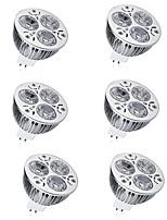 abordables -6pcs 7W 600lm MR16 Spot LED 3 Perles LED LED Haute Puissance Décorative Blanc Chaud Blanc Froid 12V
