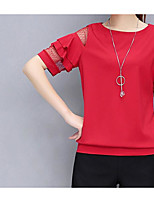 Недорогие -Жен. С кисточками Блуза Винтаж Однотонный