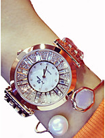 cheap -Women's Quartz Bracelet Watch Japanese Chronograph / Large Dial Stainless Steel Band Sparkle Silver / Gold / Rose Gold
