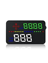 cheap -A300 3.5 inch LED Wired Head Up Display LED indicator Multi-functional display Plug and play for Truck Bus Car Display KM / h MPH Driving