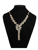 cheap -Women's Leaf Y-Necklace  -  Elegant Sweet Gold 42cm Necklace For Wedding Evening Party