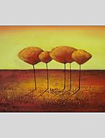 Недорогие -Hang-роспись маслом Ручная роспись - Абстракция Цветочные мотивы / ботанический Modern холст