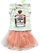cheap -Girls' Solid Colored Sleeveless Clothing Set