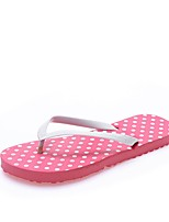 cheap -Women's Shoes Leatherette Summer Vulcanized Shoes Comfort Slippers & Flip-Flops Flat Heel Open Toe for Yellow Red Green Blue Pink