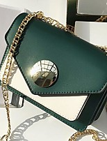 cheap -Women's Bags PU Shoulder Bag Zipper for Casual All Seasons Green Black Brown