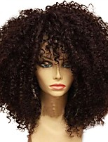 cheap -Unprocessed Wig Brazilian Hair Curly Layered Haircut 130% Density For Black Women African American Wig Black Short Long Mid Length Women's