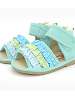 cheap -Girls' Shoes Fabric Summer Comfort Sandals for Casual Green Pink