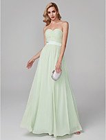 cheap -A-Line Sweetheart Floor Length Chiffon Prom / Formal Evening Dress with Sash / Ribbon Ruffles by TS Couture®