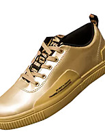 cheap -Men's Shoes PU Spring / Fall Comfort Sneakers Gold / Black / Silver