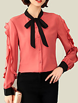 cheap -Women's Basic Blouse - Color Block, Patchwork