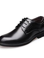 Недорогие -Муж. обувь Кожа Весна / Осень Формальная обувь Туфли на шнуровке Черный / Темно-коричневый