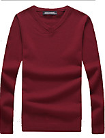 cheap -Men's Weekend Active Long Sleeve Slim Pullover - Solid Colored V Neck