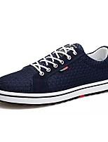 baratos -Homens sapatos Borracha Verão Outono Conforto Tênis para Ao ar livre Preto Cinzento Azul
