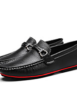 cheap -Men's Shoes Cowhide Spring Fall Light Soles Comfort Loafers & Slip-Ons for Casual Black Brown Blue