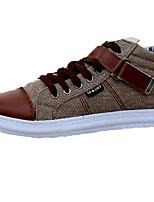 Недорогие -Муж. обувь Ткань Весна Осень Удобная обувь Туфли на шнуровке для Повседневные Офис и карьера Черный Синий Хаки