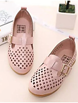 cheap -Girls' Shoes Leatherette Spring Fall Tiny Heels for Teens Flower Girl Shoes Heels for Casual Beige Blue Pink