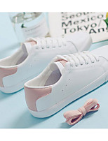 cheap -Women's Shoes Canvas Spring Fall Comfort Sneakers Flat Heel for Pink / White White / Silver White / Green