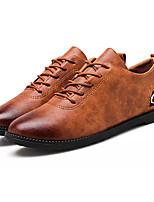 Недорогие -Муж. обувь Полиуретан Весна / Осень Удобная обувь Туфли на шнуровке Черный / Серый / Коричневый