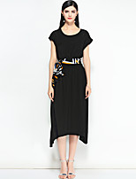cheap -MARY YAN&YU Women's Cute Street chic Boho A Line Dress - Solid Colored