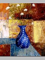 abordables -Peinture à l'huile Hang-peint Peint à la main - Nature morte A fleurs / Botanique Classique Toile