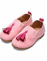 cheap -Girls' Shoes Fabric Spring Comfort Loafers & Slip-Ons for Casual Black Brown Pink